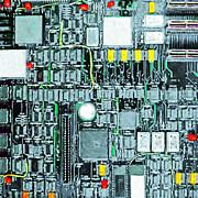 Circuits Posters - Motherboard Abstract 20130716 square Poster by Wingsdomain Art and Photography