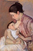 Motherhood Print by Marry Cassatt