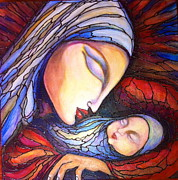 Silent Night Paintings - Motherhood by Rae Chichilnitsky