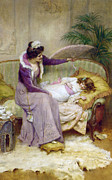 Kid Bedroom Digital Art - Mothers Comfort by George Sheridan Knowles