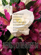 Gratitude Card Posters - Mothers Day Cards Poster by Debra     Vatalaro