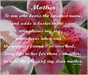 Sweetest Day Prints - Mothers Day Greeting  Print by Barbara Griffin