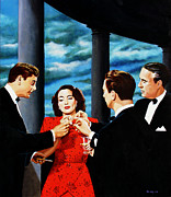 Joan Crawford Paintings - Moths To A Flame by Jo King