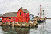 Fishing Shack Prints - Motif Number 1 Print by Jack Schultz