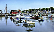 New England Village Digital Art Prints - Motif Number 1 Rockport Massachusetts Print by Nadine and Bob Johnston