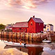 Motif Number One Rockport Massachusetts  Print by Nadine and Bob Johnston