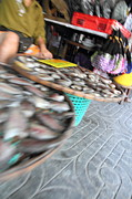 Blurred Prints - Motion Blurred Street Markets - Bangkok Thailand - 01131 Print by DC Photographer