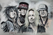 Mars Framed Prints - Motley Crue Framed Print by Melanie D
