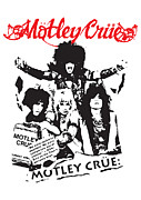 White Digital Art Posters - Motley Crue No.01 Poster by Caio Caldas