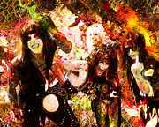 Motley Posters - Motley Crue Original Painting Print Poster by Ryan Rabbass
