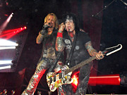 Live Music Prints - Motley Crue Print by Sheryl Chapman Photography