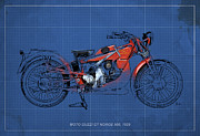 Moto Guzzi Gt Norge 500 1928 Print by Pablo Franchi