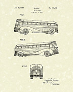 1939 Drawings Posters - Motor Coach 1939 Patent Art Poster by Prior Art Design