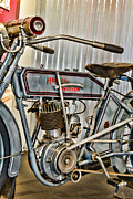 Antique Harley Davidson Photos - Motorcycle - 1913 Harley Davidson  by Paul Ward