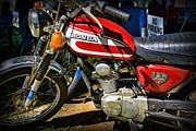 Honda Motorcycles Prints - Motorcycle - 1974 Honda CL 125 Scrambler Classic Print by Paul Ward