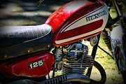 Honda Motorcycles Prints - Motorcycle - 1974 Honda CL 125 Scrambler Print by Paul Ward