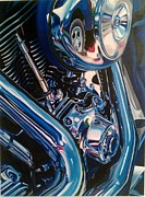 Motorcycle Abstract Print by Molly Gossett