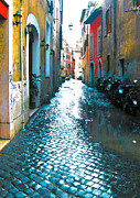 Trastevere Framed Prints - Motorcycle Alley Framed Print by Linda Ryan