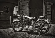 On Paper Photos - motorcycle BSA 500 by Leonardo Marangi