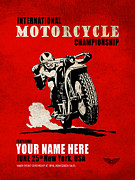 Motorcycle Posters - Motorcycle Customized Poster 1 Poster by Mark Rogan