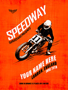 Harley Davidson Art - Motorcycle Customized Poster 4 by Mark Rogan