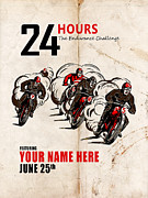 Customized Framed Prints - Motorcycle Customized Poster 5 Framed Print by Mark Rogan