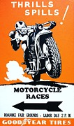 Motorsport Drawings - Motorcycle - Poster by Pg Reproductions