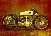 Independence Mixed Media - Motorcycles NSU Bullus SSR 350 by Gabi Siebenhuehner