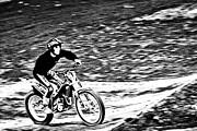 Motoring The Hills Print by Karol  Livote