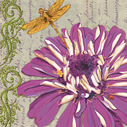 Dragonfly Prints - Moulin Floral 2 Print by Debbie DeWitt