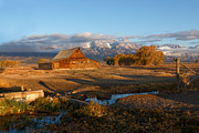 High Country Prints - Moultan Barn Morning Print by Reflective Moments  Photography and Digital Art Images