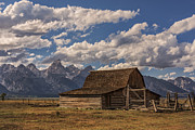 Clouds Photographs Posters - Moulton Barn - Grand Teton National Park Wyoming Poster by Brian Harig