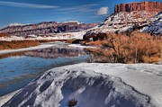 Reflections In River Framed Prints - Mounds And Buttes Framed Print by Adam Jewell