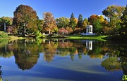 Auburn Ma Prints - Mount Auburn Reflection Print by Michael Dyer