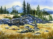 Hiking Trail Posters - Mount Bachelor View Poster by Sharon Freeman