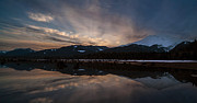 Mount Baker Sunset Print by Mike Reid