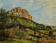Hilly Landscape Metal Prints - Mount Canaille  Cassis Metal Print by Mark Fisher