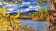 New Hampshire Lakes Framed Prints - Mount Chocura - Autumn Spectacular Framed Print by Thomas Schoeller