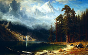 Bierstadt Digital Art Framed Prints - Mount Corcoran Framed Print by Albert Bierstadt