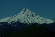 Snow Capped Mountains Prints - Mount Hood Oregon Print by Jeff  Swan