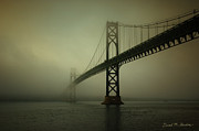 Brown Toned Art Framed Prints - Mount Hope Bridge Framed Print by Dave Gordon