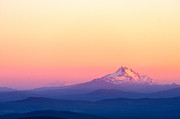 Scenic Drive Prints - Mount Jefferson Sunset Print by Jess Kraft