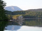 Photos Of Autumn Prints - Mount Katahdin from Rainbow Lake Print by Joseph Marquis