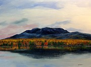 Mt. Katahdin Framed Prints - Mount Katahdin Framed Print by Ken Ahlering