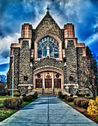 Emmanouil Klimis Prints - Mount Kisco Church Print by Emmanouil Klimis