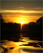 Joyce Dickens Metal Prints - Mount Lassen Sunrise Gold Metal Print by Joyce Dickens