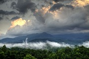 Gatlinburg Tennessee Posters - Mount Le Conte after the Storm Poster by Coby Cooper