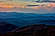 Grand Memories Posters - Mount Mitchell Sunset Poster by John Haldane