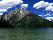 Raymond Salani Iii Metal Prints - Mount Moran and Leigh Lake Metal Print by Raymond Salani III