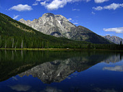 Raymond Salani Iii Photo Prints - Mount Moran and String Lake Print by Raymond Salani III
